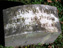 Wilson M. Tylor Headstone