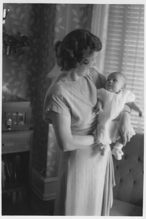 Grandma Grace with my mom as an infant