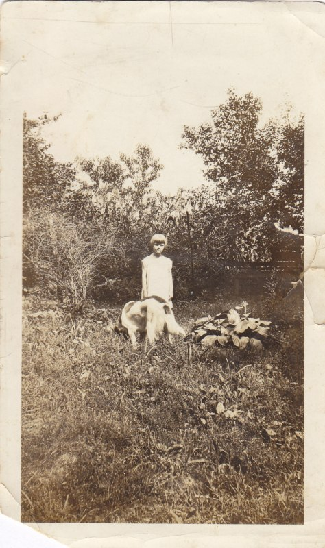 The earliest photo of my Grandma Grace that I am aware of. This would have been taken on the family farm in Elizabethton, Tennessee.